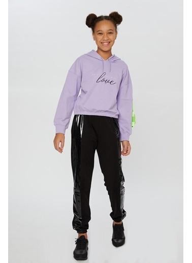 Little Star Little Star Kız Çocuk Baskılı Sweatshirt Lila